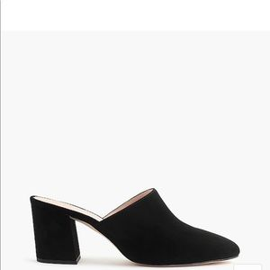 J.Crew High block -heel mules in suede